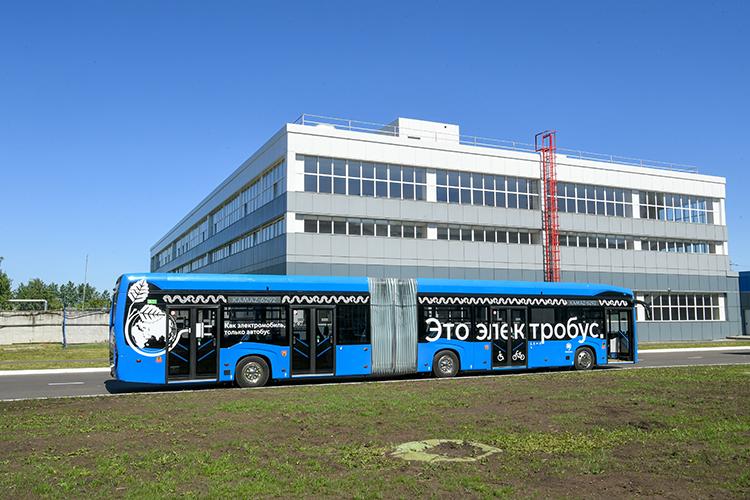 Сейчас один изэлектробусов «КАМАЗа»тестируютвКазани