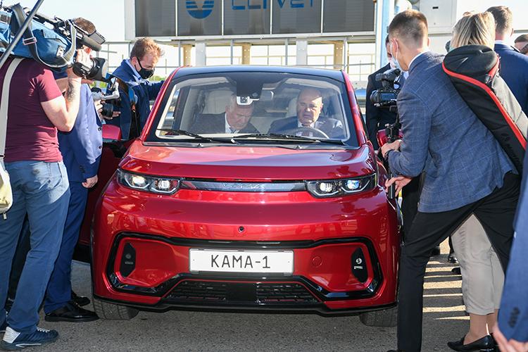 Показанный прототип электромобиля«Кама-1»хоть ихорошего качества, ноэто несерийный образец