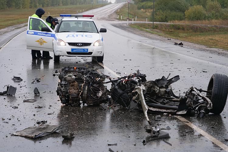 Крупное ДТП произошло сегодня в 10.15 на трассе у Сорочьих Гор в Рыбно-Слободском районе Татарстана