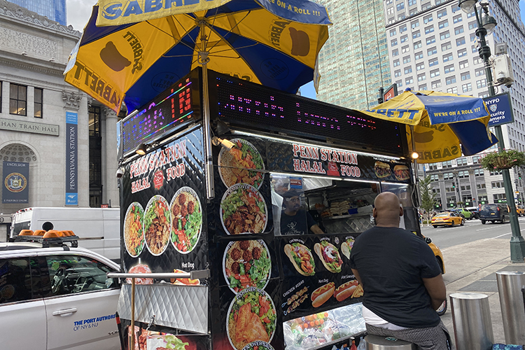 ВНью-Йорке неостанешься голодным. Почти накаждом перекрестке стоят фуд-траки схаляльным фаст-фудом. Сиххозяевами-египтянами яперекидывался парой фраз наарабском