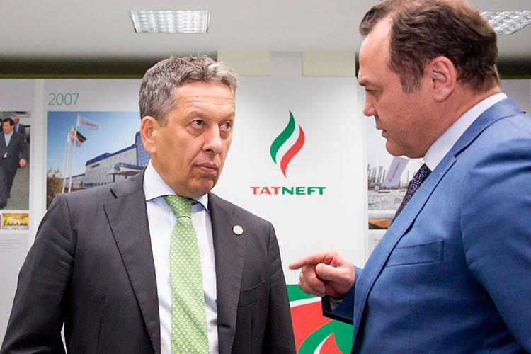 Рафик Якубов: « Отдельно хотелбы поблагодарить президента Татарстана Рустам Минниханова игенерального директора«Татнефти»Наиля Маганова (слева), которые всвоё время доверили мне работу в«АкБарсе»