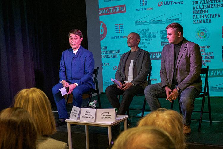 Фарид Бикчантаев:«Наэтой сцене будем играть спектакли. Экскурсионная группа после осмотра всей экспозиции будет возвращаться вэту комнату, чтобы посмотреть 20-30-минутную постановку»