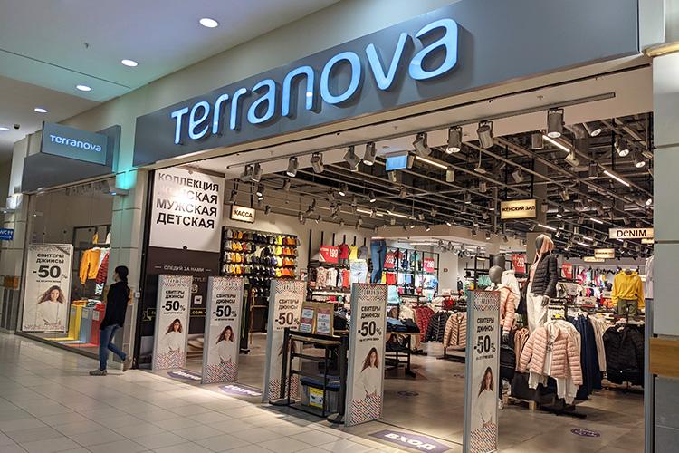 Вобновленном виде предстал магазин одежды Terranova— виюле онзакрылся нареконструкцию