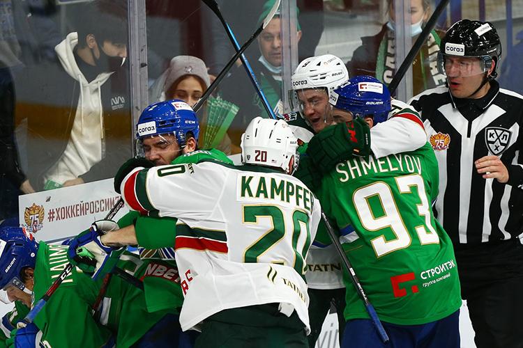 Вминувшем плей-офф казанцы легко прошли принципиального соперника (4-0) ивыиграли два матча внынешнем сезоне