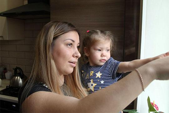 Элине Нигаметзяновой изКазани два года, унее сахарный диабет 1-го типа