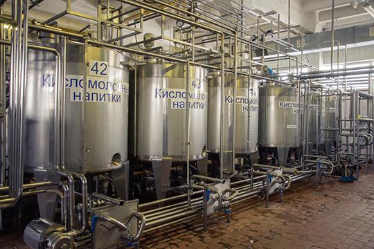 Начетвертом месте (10% рынка переработки)— ОАО«Алабуга Соте», которое управляет Елабужским молочным заводом