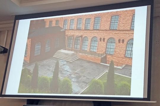 Главный вход здания предлагается сделать со стороны ул. Назарбаева, взамен существующего со стороны ул. Тукая, а большую часть корпусов сохранить как зальные пространства с антресолями