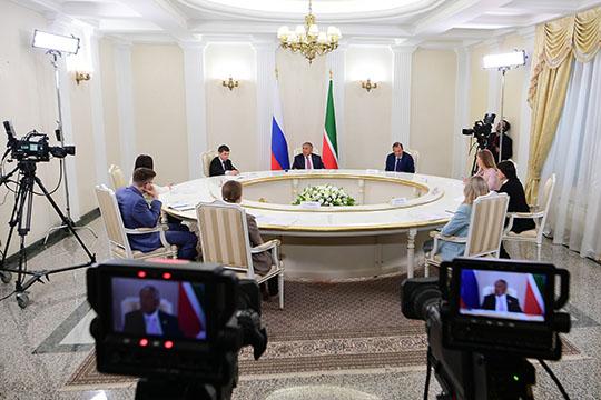 Накануне состоялась стреча Рустама Минниханова с главными редакторами ведущих СМИ Республики Татарстан