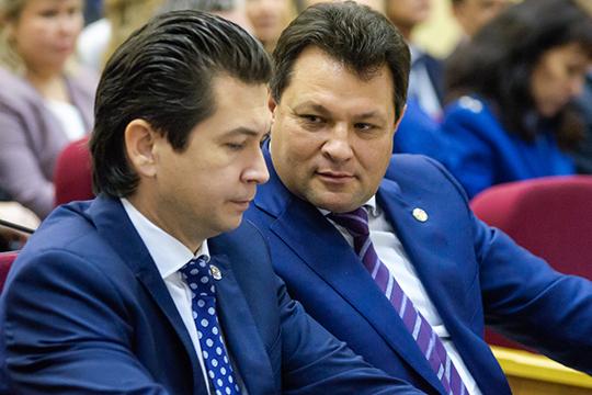 Сегодня Емельянова, отработавшего на посту главы района и мэра Елабуги без малого десять лет, сменил бывший глава Ютазинского района Рустем Нуриев (справа)