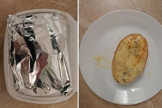 Десерт «Медовая груша со специями и голубым сыром» мы попросили упаковать с собой. И здесь заведение с нацеленностью на экологичность почему-то отошло от концепции — блюдо было упаковано в контейнер из пенополистерола