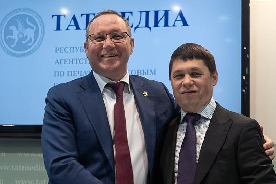 Айдар Салимгараев (слева), правая рука Муратова, встал у руля республиканского агентства «Татмедиа». Одноименное ОАО возглавил Шамиль Садыков (справа)