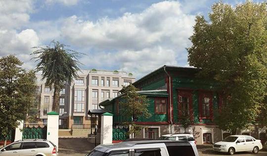 Одобрение получил и4-этажный жилой дом наулице Большая Красная, 1.Здание главным фасадом выходит наБольшую Красную, новцелом находится навторой линии