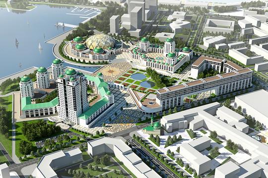Лидирует пока вариант размещения мечети направом берегу Казанки—территория входит впроект «Казанского финансового района»