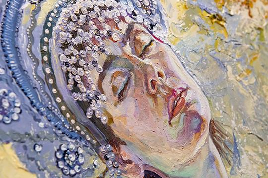 Кроме сюжетов, посетители выставки отмечают необыкновенную художественную технику Шадрина