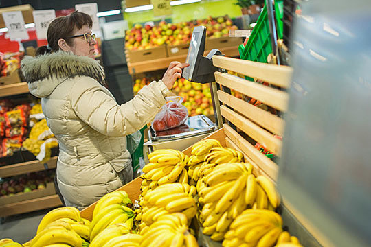 Изпрочих неприятных сюрпризов можно отметить цену бананов в«Бахетле», взлетевшую на23% до89,9 рубля закилограмм