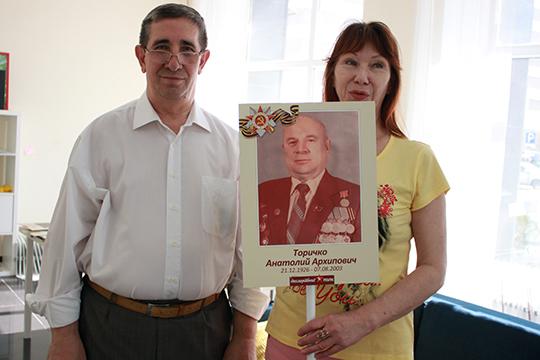 Семья Ибрагимовых пойдет на Бессмертный полк с отцом супруги - Ольги