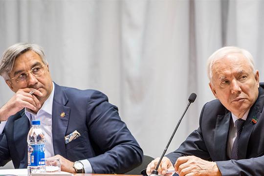 Ринат Закиров (справа)направил письмо в«Штаб татар» собвинениями в«недружественных действиях».Однако, руководство РТ поручилоВасилю Шайхразиеву(слева) урегулировать ситуацию