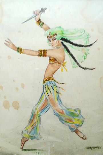 Иллюстрация к танцу Альфии Айдарской