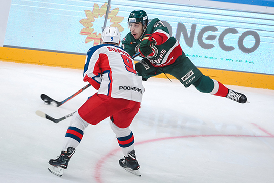 «Ак Барс» в матче лидеров регулярного чемпионата КХЛ на домашнем льду со счетом 2:5 проиграл ЦСКА