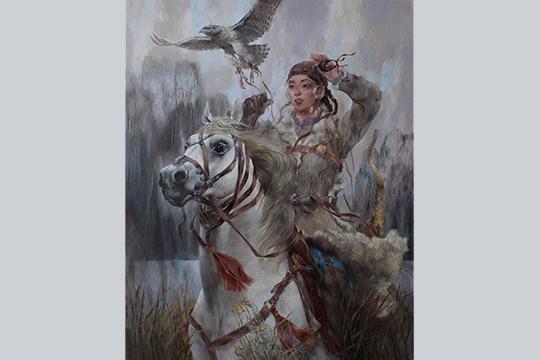 Одна такая картина сизображением булгарской девушки стоит около 100 тысяч рублей