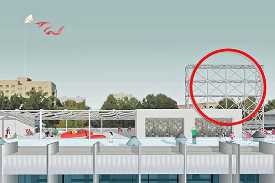 Архитекторы предположили, что крыша тоже может стать дополнительной площадкой в теплое время года. Например, для йоги или для инсталляций и выставок
