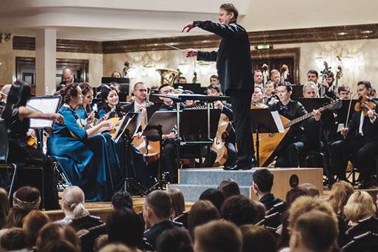 ВКазани впервые вмире прозвучали симфония Слонимского «Восхождение итриумф» исочинение молодого композитораАнны ПоспеловойEquilibrio