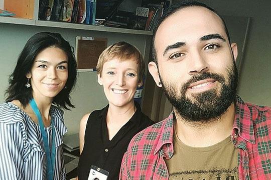 Преподаватели: Луис из Великобритании и Махер из Сирии