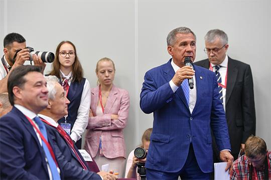 Президент Татарстана вчера провел и целый ряд бизнес-встреч