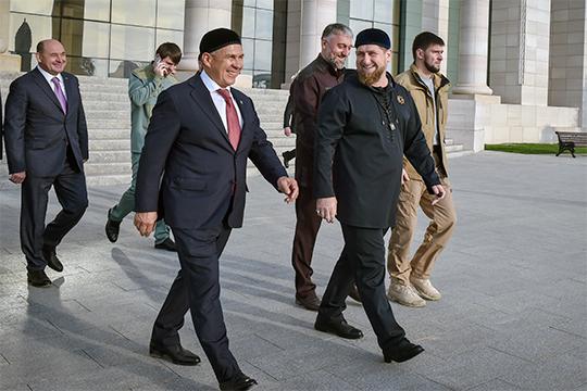 Плечом к плечу с Миннихановым — 42-летний глава Чечни Рамзан Кадыров, который в нашем Топ-100 замыкает первую пятерку