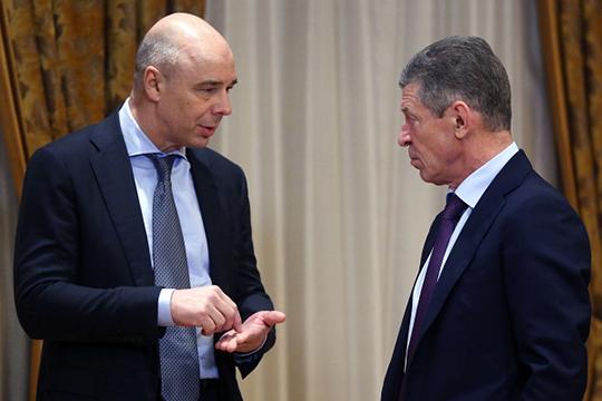 У Дмитрия Медведева теперь будет два зама — к Антону Силуанову (слева) присоединился Дмитрий Козак (справа)