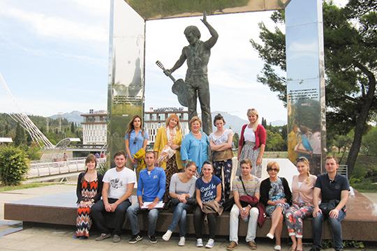 Черногория. Подгорица. Со студентами Университета. 2015