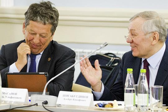 Не включены в список и главные инвесторы возрождения Болгара и Свияжска — гендиректор «Татнефти» Наиль Маганов и экс-гендиректор ТАИФа Альберт Шигабутдинов