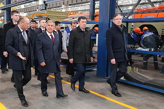 Одним из основных пунктов программы визита стало, конечно же, открытие новой линии по сборке автомобилей «КАМАЗ»