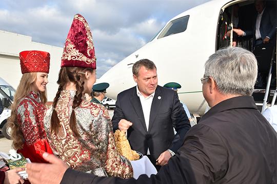 Игорь Бабушкин приезжал с визитом в Казань, сделав Рустама Минниханова одним из участников своей предвыборной кампании