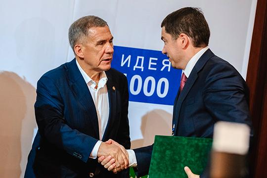 100-процентным владельцем «Татаммония» стал ИВФ РТ, возглавляемый Айнуром Айдельдиновым (справа). Таким образом, власти Татарстана консолидировали 80% уставного капитала «Аммония