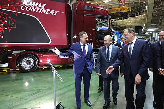 Кабиров презентовал энергоэффективный магистральный тягач КАМАЗ-2020, который ровно 2 месяца назад показывали президенту РФ Владимиру Путину