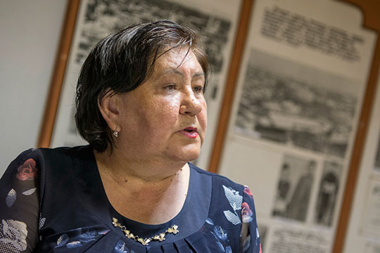 Люзия Валиуллина— директор единственного вмире музея Кариева, который работает с1988 года, потомок основоположника татарского театра вшестом поколении