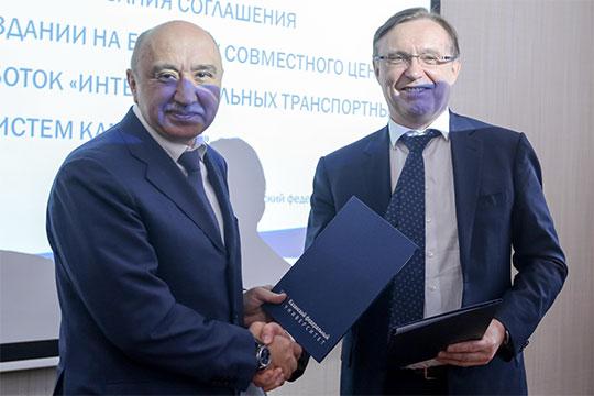 Ильшат Гафуров иСергей Когогинподписали соглашение осоздании испытательного полигона иисследовательского центра для беспилотников