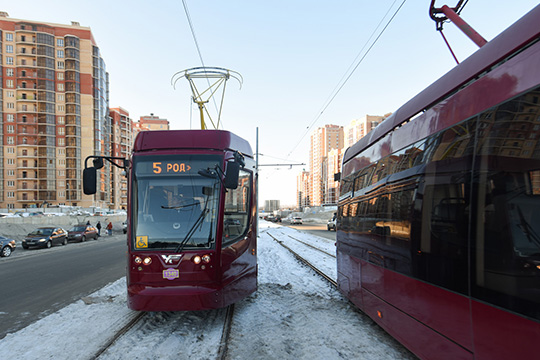 Позамыслу проектировщиков, это должна быть кольцевая магистраль непрерывного движения сотдельной трамвайной полосой маршрута №5 общей протяженностью 36,6км