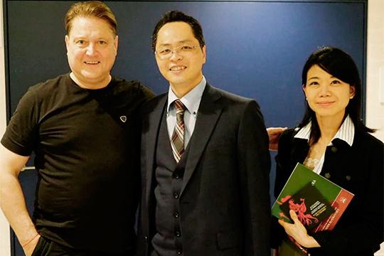 С президентом музыкального агентства Tempo Primo Japan Тошитаке Накамура