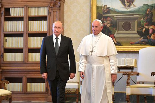 Визит президента РФвВатикан можно считать историческим, положившим начало новой форме контактов светских властей соСвятым Престолом