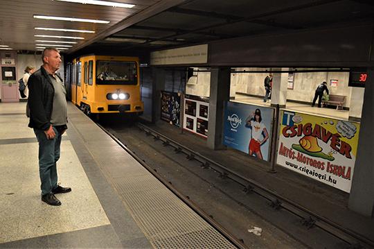 Одна из станций на исторической (желтой) линии Будапештского метро