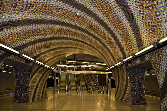 Одна из новых станций Будапештского метрополитена