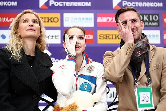 Олимпийская чемпионкаАлинаЗагитовауверенно победила наГран-при России, оформив себе путевку вфинал серии