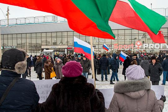 Разнообразие флагов— тоже отличительная черта этого митинга
