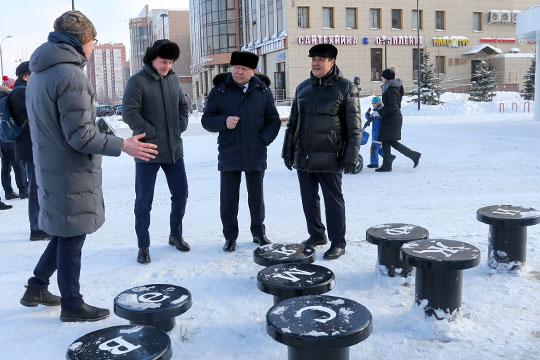 На этой неделе в Казань приехали Александр Сидякин, и мэр Уфы Ульфат Мустафин для изучения опыта по благоустройству общественных пространств