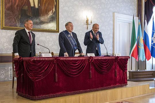 Назарбаев приезжал в Татарстан четыре раза