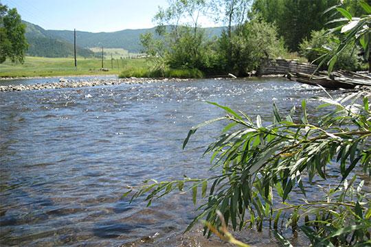 Река, спустившаяся с гор