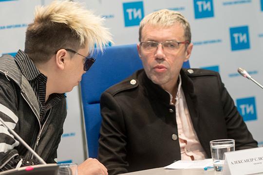 «Слюсаренко (справа) тогда написал: хочешь— будешь большим артистом. Александр пригласил вМоскву. Япоехал— денек-два пообщались, домой приехал, вещи собрал иуехал… Хотя вУфе подеревням гастролировал»