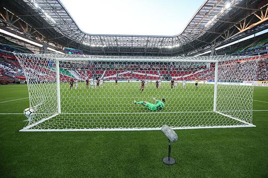 «Казань Арена» продолжает огорчать. На неё в среднем приходило лишь на 54 зрителя больше — 9760